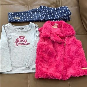 Juicy Couture Girls Set Vest Top Pants 3T